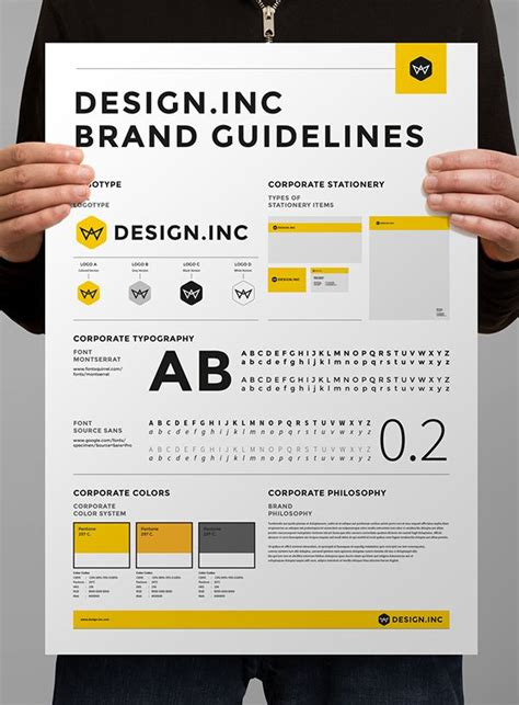 branding guidelines template 25 best ideas about brand guidelines template on
