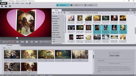 magix edit pro templates magix photostory 2016 deluxe template