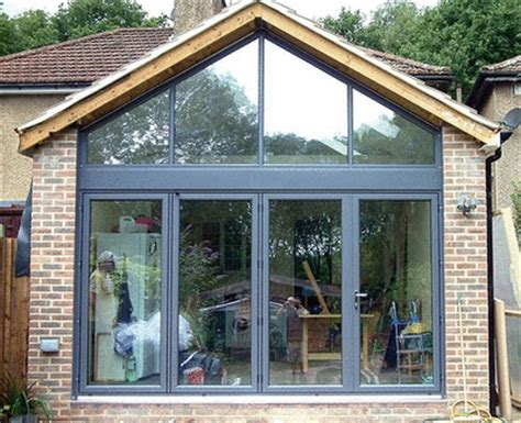 Gable Roof Extension Folding Patio Doors Gable Window Installation Featured