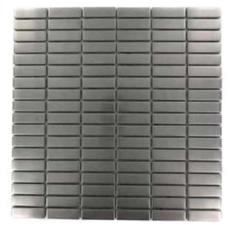 stainless steel tile backsplash home depot stainless steel splashback tile stainless steel stacked pattern 12 in x
