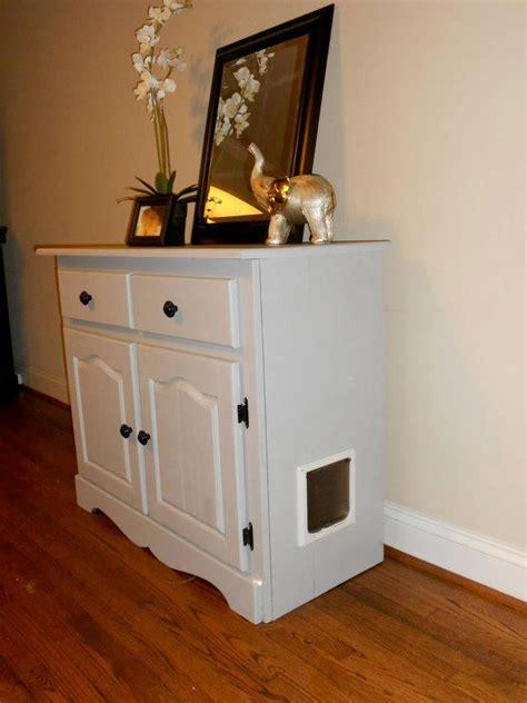 schrank katzenklo cat litter box cabinet with drawers