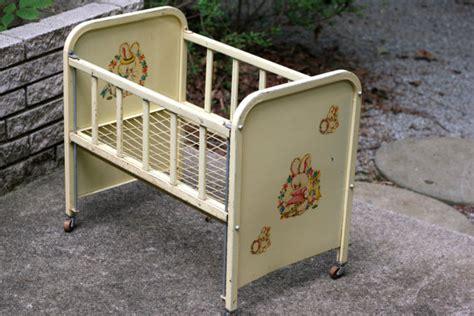 Metal Baby Crib For Sale Vintage 1950 S Amsco Metal Doll E Crib With