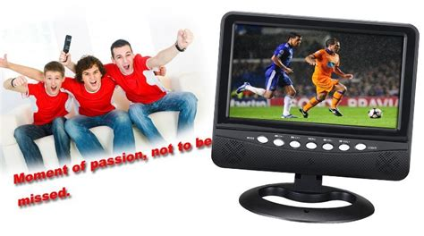 Tv Lcd 800 Ribuan mini television portable tv dc12v 9inch car monitor lcd tv with 800 480 in television from