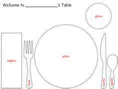 montessori placemat printable printable table setting place mats color sheets table
