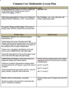 common ela lesson plan template lesson plan sle for mathematics common math