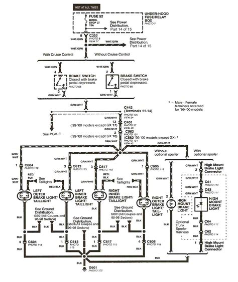 honda civic 2000 wiring diagram wiring diagram for 2000 honda civic ex get free image