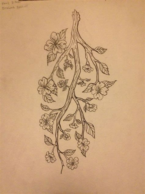 tree branch tattoo designs arm design of a dogwood branch family tree my