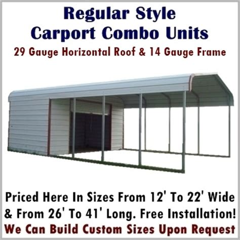 Garage Plans With Carport carport amp storage combo units metal carport depot