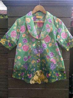 Dress Batik Cantik Brokat Koin batik modern atasan batik bahan katun kombinasi embos