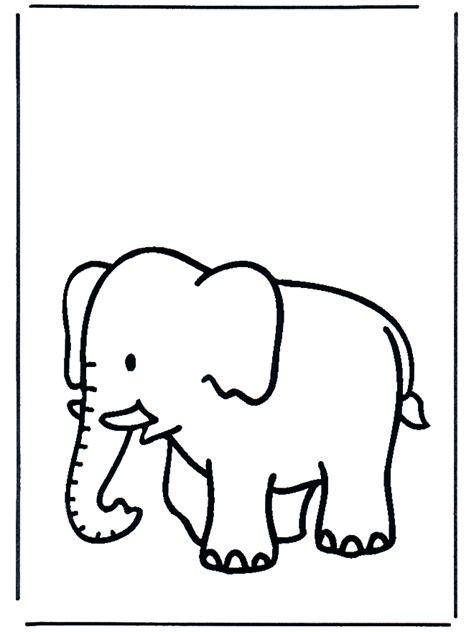 elephant  fargeleggingstegninger dyrehage