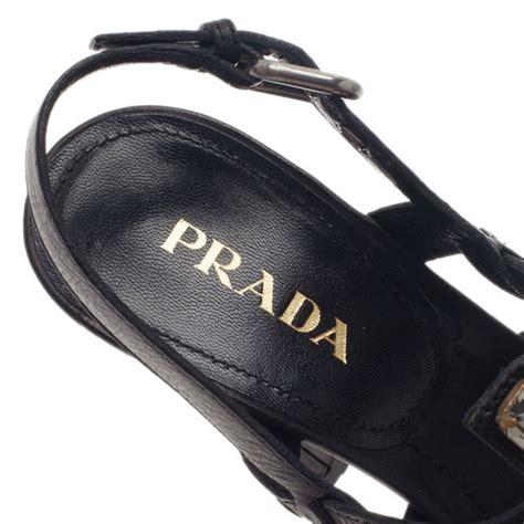 Prada Lc 1ba106 Black lc buy sell prada black embellished leather strappy