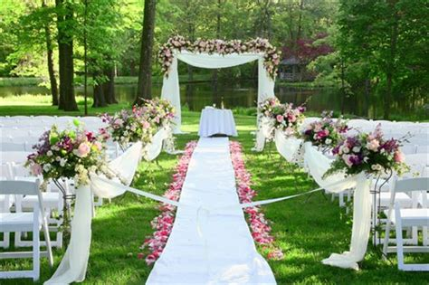 outdoor wedding ceremony decoration ideas on a budget backyard wedding backyard wedding ideas 123weddingcards