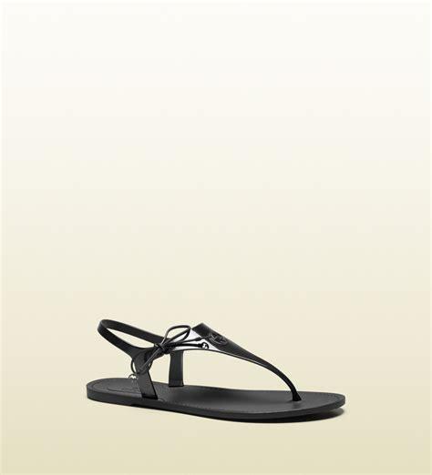 gucci rubber sandals gucci katina bio plastic rubber sandal in black lyst