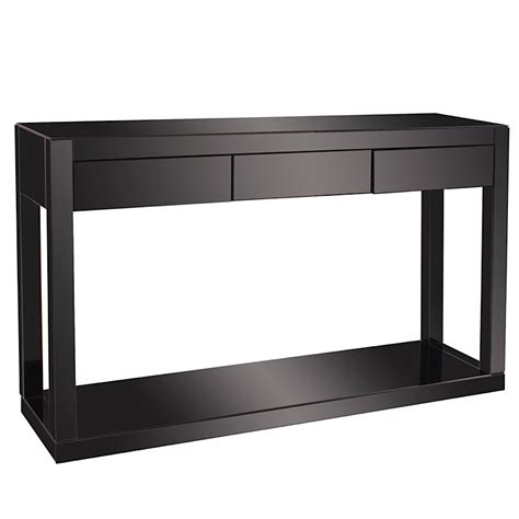 modern mirrored furniture black mirrored console table black modern digs furniture