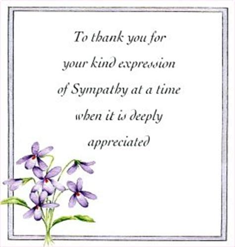 Thank You Note Quotes Sympathy Floral Thank You Sympathy Cards Pack Of 10 Co Uk Kitchen Home