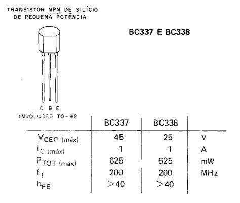 transistor equivalente ao bc337 transistor equivalente a bc337 28 images transistor bc337 electr 243 nica teor 237 a y pr