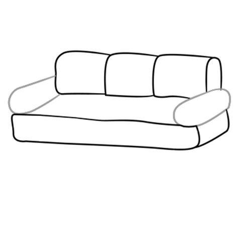 how to draw a 3d sofa couch sofa coloring pages