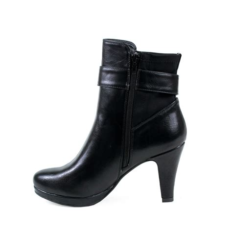 high heel boots black reneeze niki 01 womens ankle high heel boots black
