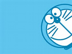 Doraemon Cute Blue Background