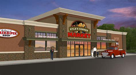 exterior market design market upgrade grocery store