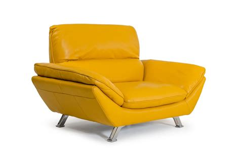 modern yellow divani casa daffodil modern yellow italian leather sofa set