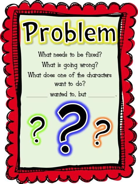 printable narrative poster 1000 images about classroom prob sol on pinterest