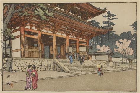 Home Decor Nepal by Original Hiroshi Yoshida Signed Woodblock Print Buddhist