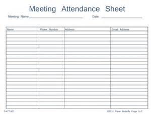 Meeting attendance sheet template success