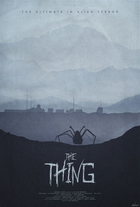 the thing minimalist poster winter the thing 1982 poster by edwardjmoran on deviantart