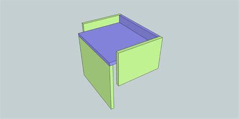 table de nuit pour lit mezzanine plan une table de nuit par pilpoil bricolage sur