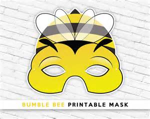 bug masks for templates bumble bee printable mask photo prop bug mask by therasilisk