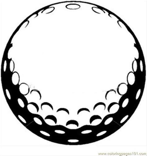 printable vector art coloring pages golf ball sports gt golf free