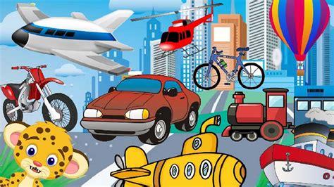 imagenes infantiles medios de transporte adivinanzas para ni 241 os de los medios de transporte youtube