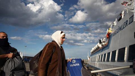 syrian refugee crisis boat number of syrian refugees rises above 2 million u n