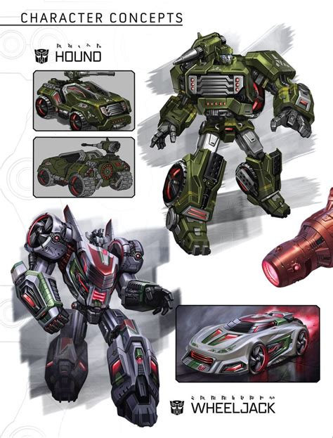 transformers hound art art of fall of cybertron hound and wheeljack