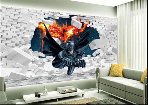 batman wallpaper bedroom uk custom papel de parede infantil 3d batman to break the