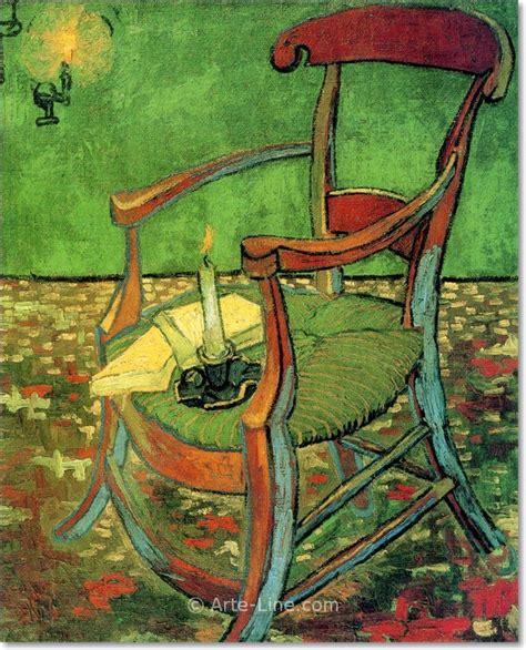 sedia di gogh vincent gogh la sedia di gauguin arte line quadri