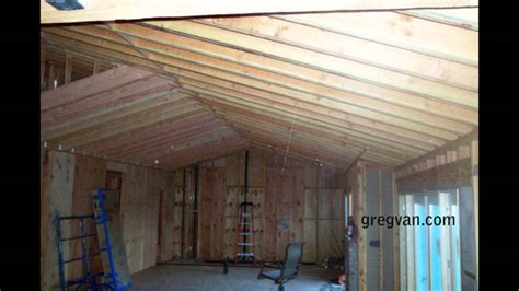 long sagging  double roof rafters structural