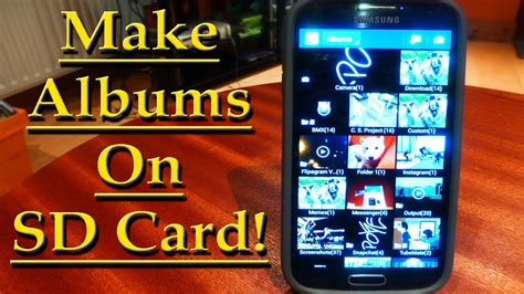 make image of sd card make albums on sd card samsung galaxy s4