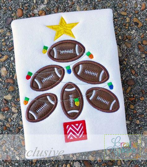 football christmas tree applique creative appliques