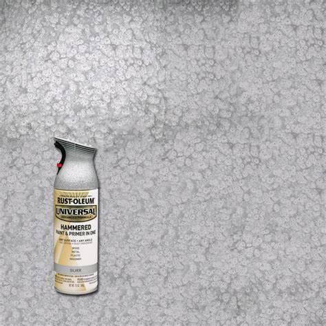 spray paint plastic silver rust oleum universal 12 oz all surface hammered silver