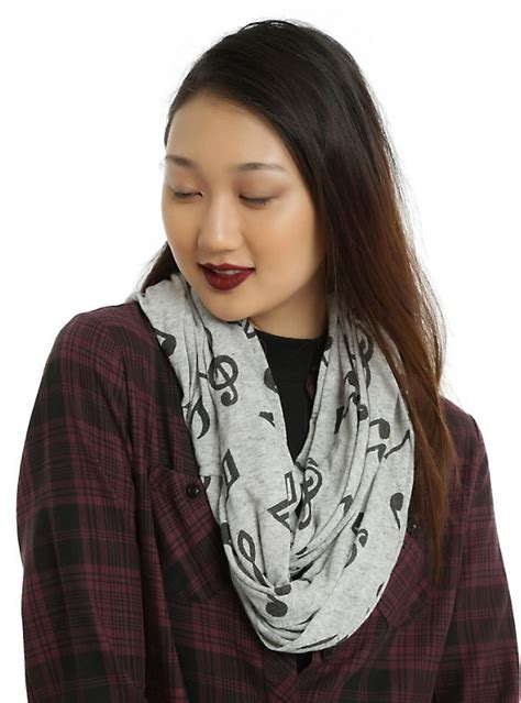note infinity scarf grey note infinity scarf topic