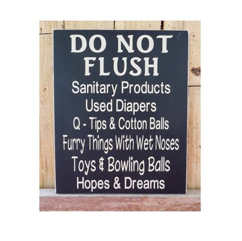 do not flush signs for bathroom do not flush 10 x 12 wood sign bathroom decor bathroom wall