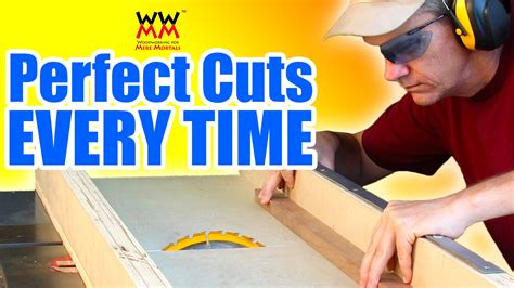 build  crosscut sled essential table  jig youtube