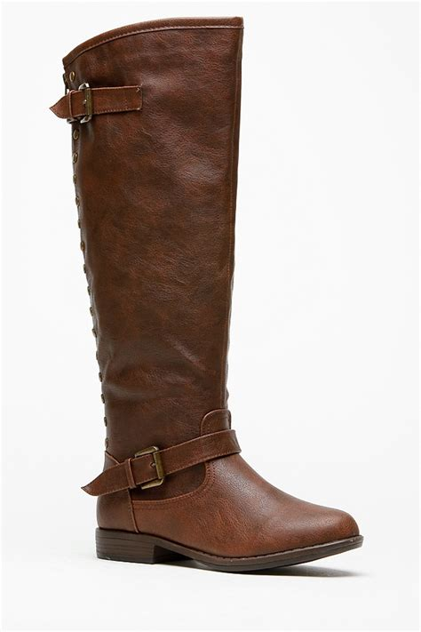 bamboo knee high rider brown boots cicihot boots catalog