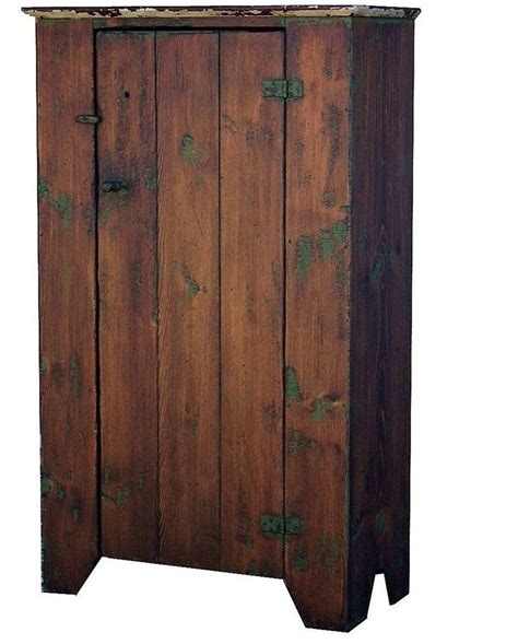 Primitive Furniture by Early American Painted Country Reproduction Primitive Chimney Jelly Cupboard