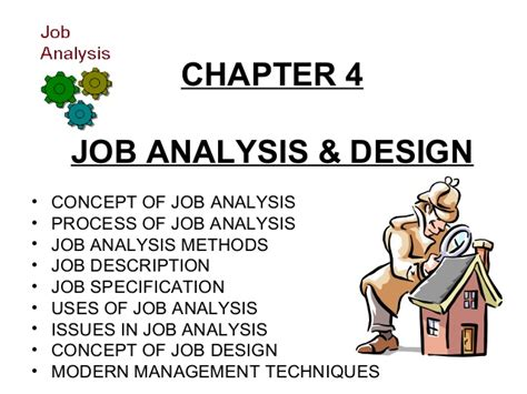concept design job requirements job analysis design