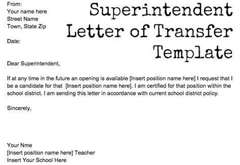 Transfer Letter For Teachers Drteachers Org