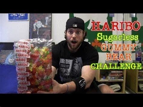 haribo sugar free gummy bears challenge haribo sugarless gummy challenge warning intestinal