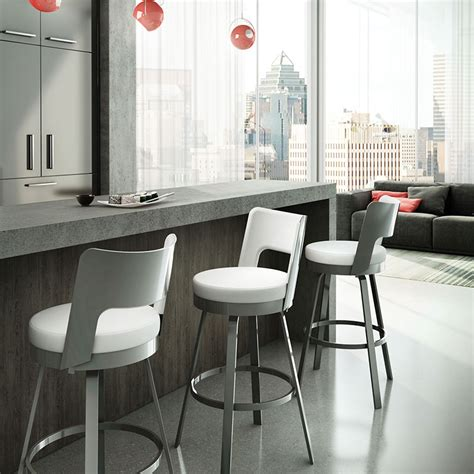 modern swivel chairs for kitchen the benson bar stool features a rounded back with